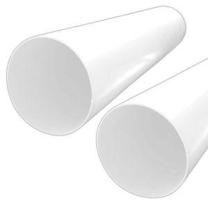 Round Plastic Ducting Pipe, diameter 125MM, length 1M