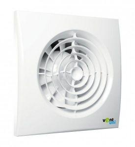Ventilator Vent uni VU-100-QF-C-T01 - Silent with Non-return Flap, Timer, Humidistat