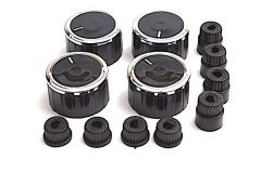 Knob (Black; Set of 4 Pieces) for Universal Gas Hobs