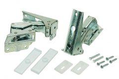 Door Hinge (Set 1x Upper, 1x Bottom) for Whirlpool Indesit Fridges & Freezers - 481231018626