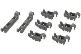 Plate Rack Holders (Set of 8 Pieces) for Bosch Siemens Dishwashers - 00611472 BSH - Bosch / Siemens