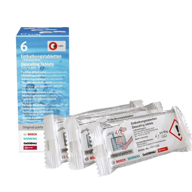 Descaling tablets For coffee machines, kettles and hot water dispensers - 00310967, 00311556 Bosch, Siemens, Neff
