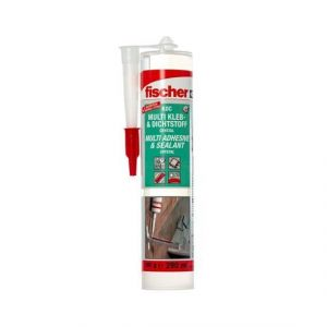 Adhesive and Sealing Multi-Purpose Sealant 290ml, Transparent Fischer KDC CRYSTAL