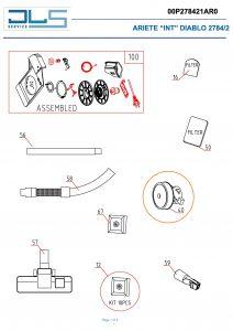 Motor for DeLonghi Hyundai Vacuum Cleaners - AT5165732700
